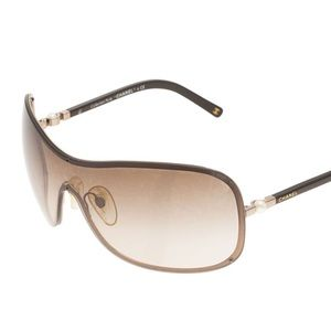 Chanel Perle Collection Brown Shield Sunglasses